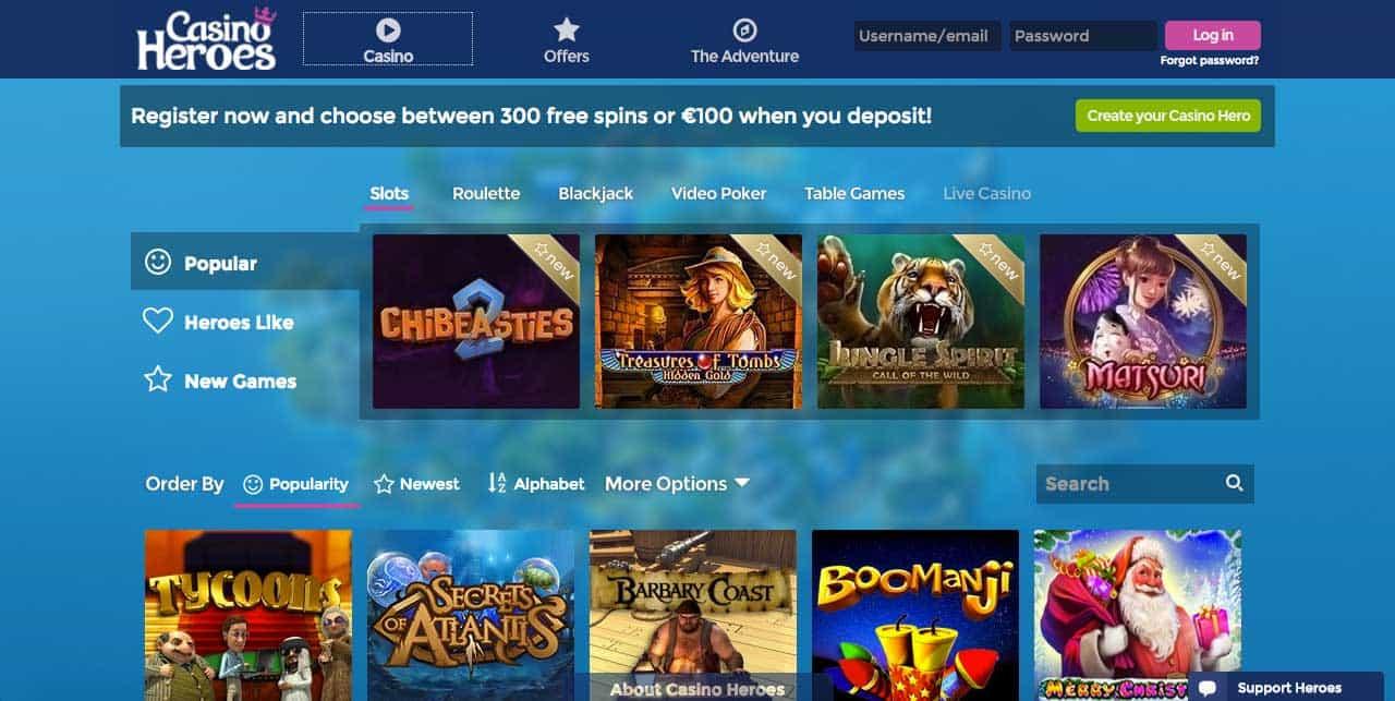 casino heroes online