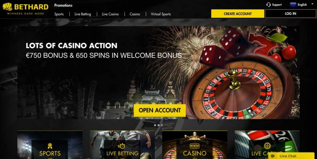 bethard casino bonus screenshot