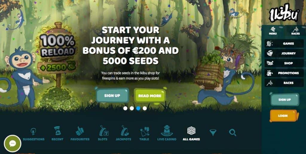 ikibu casino bonus screenshot