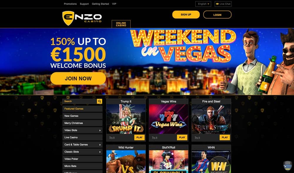 Enzo Casino Screenshot