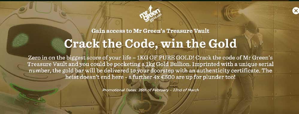Mr Green Win Gold