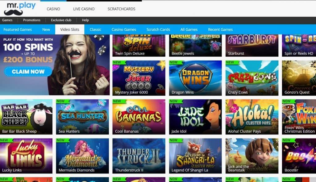 MrPlay Casino Spelaanbod