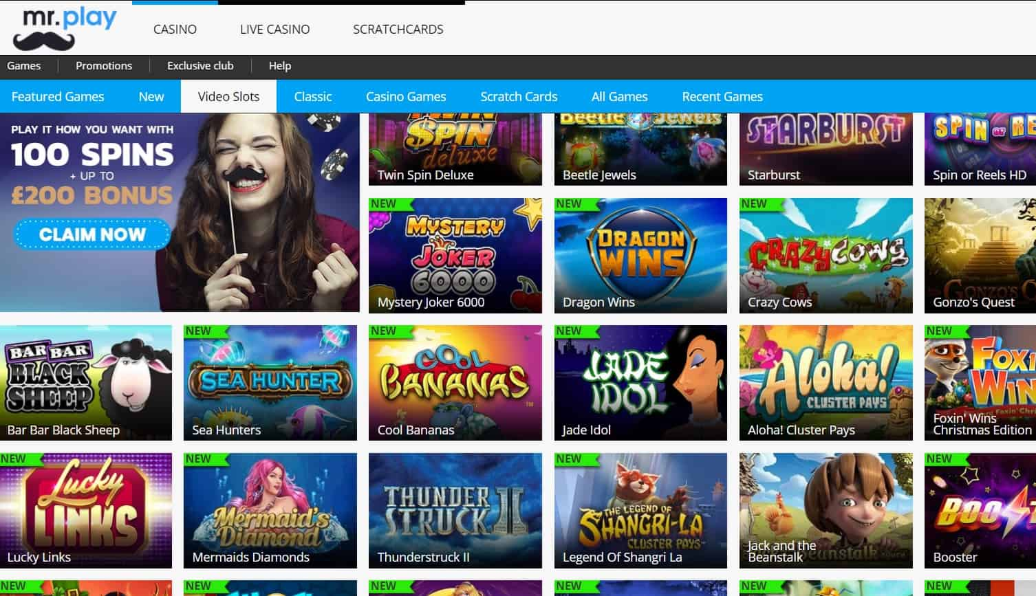 online casino te