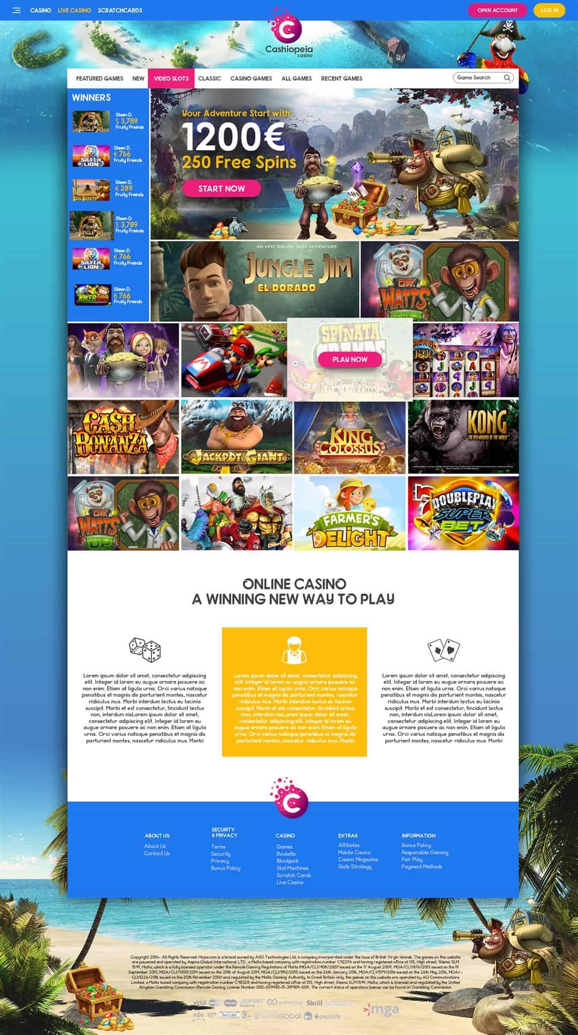 cashiopeia online casino vernieuwd